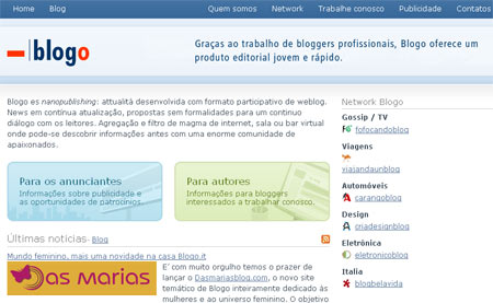 Blogo.it, rede italiana de blogs há um ano no Brasil.